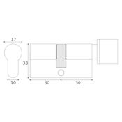 #08 - 30mm/30mm Euro Profile Key & Thumbturn Cylinder UMK
