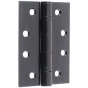 "#07 - 4"" Ball Race Bearing Fire Door Hinge Black"