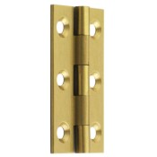 "#02 - 2"" Solid Brass Cabinet Butt Hinge"