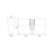 #07 - 40mm/40mm Euro Profile Double Cylinder UMK