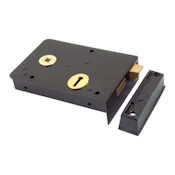 "#05 - 1439 6"" Heavy Steel Rim Door Lock"