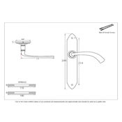 #05 - Gothic Curved Lever Door Handle on Latch Backplate