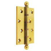 "#11 - 4"" Solid Brass DPBW Finial Butt Hinge"
