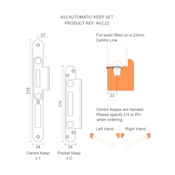 #01 - Winkhaus AV2 Automatic Multi-Point Door Lock 45mm