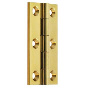 "#10 - 2.5"" Solid Brass Cabinet Butt Hinge"