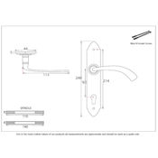 #04 - Gothic Curved Multi-Point Door Lock Handle