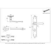 #22 - Cromwell Lever Door Handle on Bathroom Privacy Lock Lock Backplate