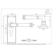 #15 - Chateau Lever Door Handle on Euro Lock Backplate