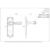 #12 - Palladio Lever Door Handle on Lock Backplate