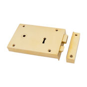 "#08 - 7"" Solid Brass Rim Door Lock"