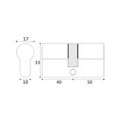 #13 - 40mm/50mm Off-Set Euro Profile Double Cylinder
