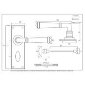 #19 - Chateau Lever Door Handle on Bathroom Privacy Lock Backplate