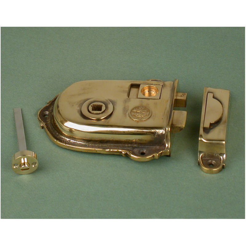 """5"""" (123mm) Aged Iron Surface Mounted Privacy Rim Lock for ..."""