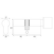#10 - 40mm/40mm Euro Profile Key & Thumbturn Cylinder UMK