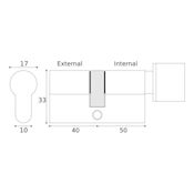 #15 - 40mm/50mm Off-Set Euro Profile Key & Thumbturn Cylinder