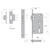 #07 - 85mm Euro Profile Cylinder Nightlatch