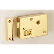 "#06 - 4"" Solid Brass Privacy Rim Door Lock"