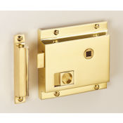 "#08 - 4"" Solid Brass Privacy Rim Door Lock"