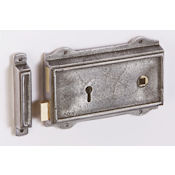"#10 - 6"" Cast Iron Rim Door Lock"