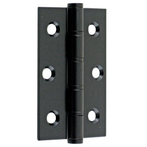 "#02 - 3"" Washered Fire Door Hinge Black"