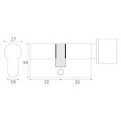 #08 - 32mm/32mm Euro Profile Key & Thumbturn Cylinder UMK
