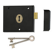 "#01 - 1116 4"" Plain Steel Rim Deadlock"