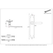 #06 - Cromwell Lever Door Handle on Latch Backplate