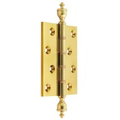 "#12 - 4"" Solid Brass DPBW Finial Butt Hinge"