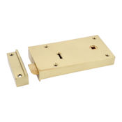"#11 - 5"" Solid Brass Rim Door Lock"
