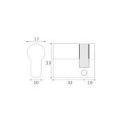#02 - 32mm/10mm Euro Profile Single Cylinder