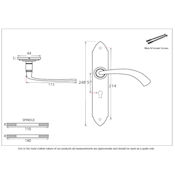 #11 - Gothic Curved Lever Door Handle on Lock Backplate