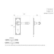#09 - Marot Lever Door Handle on Lock Backplate