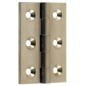 "#04 - 2"" Solid Brass Cabinet Butt Hinge"