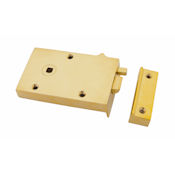 "#05 - 5"" Solid Brass Privacy Rim Door Lock"