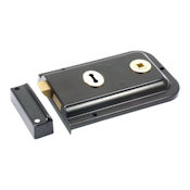"#04 - 1445 6"" Plain Steel Rim Door Lock"