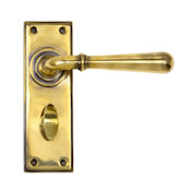 #18 - Orleans Lever Door Handle on Bathroom Privacy Lock Backplate