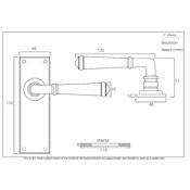 #07 - Chateau Lever Door Handle on Latch Backplate