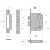 "#01 - 2.5"" Bathroom/Toilet Privacy Lock"