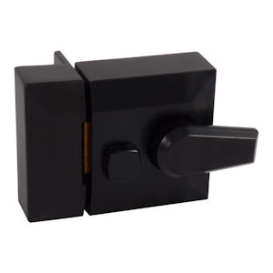#03 - Narrow Cylinder Rim Nightlatch Case Black
