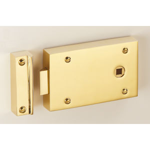"#02 - 5"" Solid Brass Rim Door Latch"