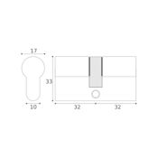 #05 - 32mm/32mm Euro Profile Double Cylinder KA